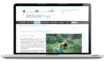 Site Web vitrine pour association de yoga