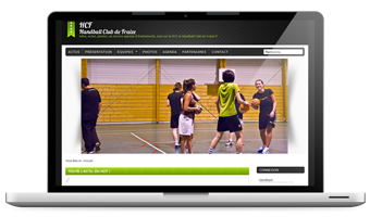 Site Web vitrine pour association handball
